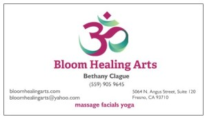 bloom healing arts card